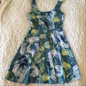 Blue Floral Watercolour Dress